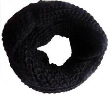 Super Soft Wool / Acrylic chunky knitted circle loop Scarf