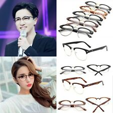 Stylish Vintage Retro Half Frame Clear Lens Glasses Nerd Geek Eyewear Eyeglasses