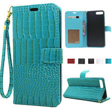 Luxury Crocodile Leather Flip Wallet Pouch Stand Cover Case for iPhone 7/ 7 Plus