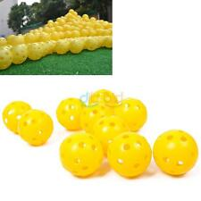 2/10Pcs Airflow Hollow Perforated Plastic Golf Practice Training Balls Yellow