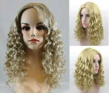 SHOULDER LENGTH MEDIUM CORKSCREW SPRINGY CURLS CURLY HAIR SKIN TOP WIG CHLOE