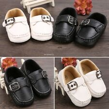 Baby Infant Boy Girl Toddler First Walker Casual Soft  Faux Leather Shoes B20E