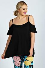 Boohoo Womens Ladies Amy Frill Sleeve Swing Plus Size Top
