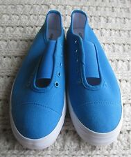 NEW Womens Athletic Flats Aqua Blue Comfortview Slip-Ons Canvas Sneakers Size Ch