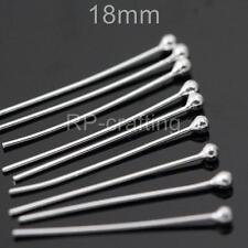 U Pick Sterling Silver 18mm 25mm 30mm 35mm Ball/Dot Pins Wire Thick-24GA (0.5mm)