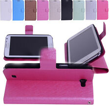 Magnetic Folio Flip Leather Silk Matte Stand Case Cover Stand For Samsung Galaxy