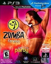 Zumba Fitness (Sony PlayStation 3, 2010) With Belt To Hold Controller