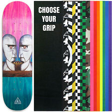 """HABITAT PINK FLOYD Skateboard Deck DIVISION BELL STAIN FADE 8.5"""" with GRIPTAPE"""