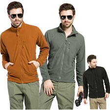 Mens Plaid Fleece Breathable Wind Resistant Casual Outdoor Sports Coat Jacket