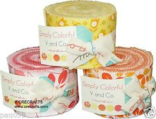 "Simply Colorful Moda Junior Jelly Roll 100% Cotton 2.5"" Precut Fabric Strips"