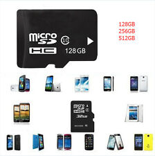 128GB-512GB Micro SD SDHC TF Flash Memory Card Class10 C10 SD Adapter For Phones