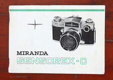 MIRANDA SENSOREX-C INSTRUCTION BOOK/182511