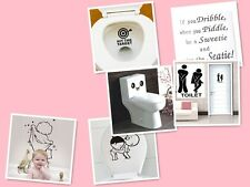 Fun Bathroom Decorations Toilet Seats Art Walls Stickers  Decal Vinyl Home Decor