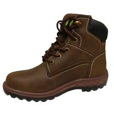 InStock John Deere JD3191 Youth Brown Lace Up Work Boots