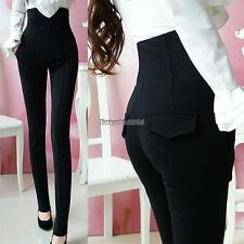Fashion Womens High Waist Stretch Skinny Leggings Pencil Pants Trousers Slim ED