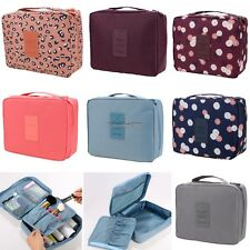 Travel Makeup Cosmetic Toiletry Case Wash Organizer Storage Pouch Hanging Bag ED
