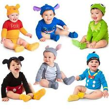 New Baby Boys&Girls Disney Animal Costume Bodysuit Hat Outfit Romper Clothescute