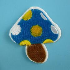 Mushroom Polka Dot Motif Baby Iron Sew on Patch Applique Badge Embroidered Cute