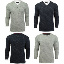 Mens Long Sleeved T-Shirt by Dissident 'Forsey' Crew Neck