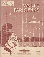 VALSE PARISIENNE Lee S. Robert SHEET MUSIC