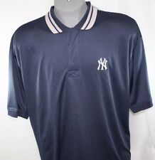 NEW Mens STITCHES New York NY YANKEES Navy Blue Logo Polo Style Shirt