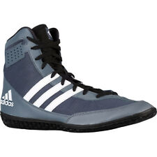 Adidas Mat Wizard 3 High Top Wrestling Shoes - Gray/Black/White