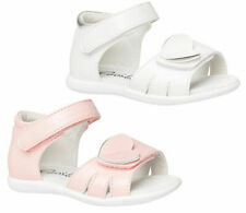 Girls Shoes Grosby Heather White or Pink Sandals Size 4-10 New Leather Lining