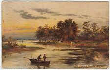 SURLINGHAM - Fishing - Tuck Oilette #3468 - 1925 used Norfolk Broads postcard