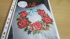 CROSS STITCH CHART RING OF ROSES CHRISTMAS WREATH GARLAND CHART