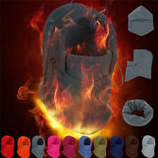 Fleece Balaclava Hood Swat Ski Mask Bike Beanies Winter Wind Stopper Face Hats H
