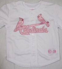 NEW Girls Infant Toddler MAJESTIC St Louis CARDINALS Pink Baseball MLB Jersey