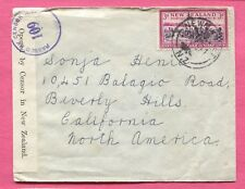 1941 NEW ZEALAND NEWMARKET CANCEL WWII CENSORED COVER TO USA