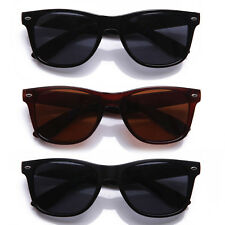 Classic Retro Horn Rimmed Style POLARIZED Lens Sunglasses with Solid Lens Color