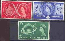 Great Britain 1957 SCOUT JUBILEE JAMBOREE Set (3) Unhinged Mint, SG 557-9