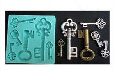 Key keys silicone reusable resin mold mould resin jewelry crafts jewelry