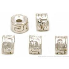 Rondelle Bali Beads Silver Plated Spacer 5mm 2 Grams