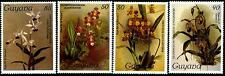 GUYANA Sc.# 1084, 1106, 1209, 1215 Orchids NH Stamps