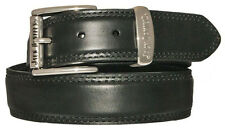 NEW! Black Leather Jack Daniels's Belt, Removable Silver Tone Buckle Size 32-44