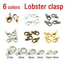 50/100X Lobster Clasps Claw Plated Trigger Jewelry Fastener Hook Finding 10-16mm