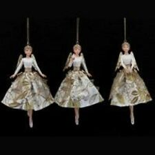 Gisela Graham Gold Holly Resin Angels Hanging Christmas Tree Decoration 14751
