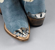 Western Express Silver Tone Boot Toe Tips or Heels Cut Outs