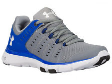 NEW WOMENS UNDER ARMOUR MICRO G LIMITLESS TR 2 CROSS TRAINING SHOES STEEL / TEAM