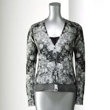 gorgeous NWT Simply Vera Wang floral lurex cardigan sweater - sz. S