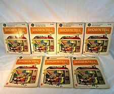 Vintage 1969 GE Show' N Tell Picturesound Programs Lot of 7