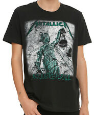 Metallica - ...And Justice For All Distressed Graphic T-shirt - BRAND NEW