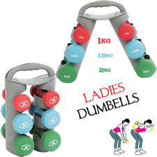 HTH Vinyl Dumbbell Set Ladies Aerobic Home Weights Training Gym Fitness Workout