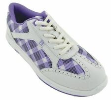 Brunswick Plaid Purple Womens Bowling Shoes