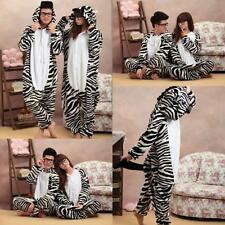 Hot Sale Unisex Adult Pajamas Kigurumi Cosplay Costume @ zebra Animal Onesie
