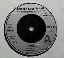 """LINDSEY BUCKINGHAM TROUBLE 7"""" 1981 WITH THAT'S HOW WE DO IT IN L.A. UK"""