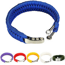 HOT 1X Durable Outdoor Military Survival Bracelet Cord Wristband For Camping